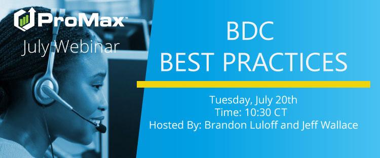 WEBINAR- BDC Best Practices