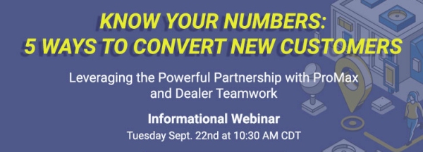 WEBINAR- Know Your Numbers: 5 Ways to Convert New Customers